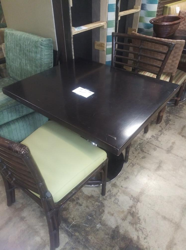 Small Dark Wood Dining Table Hlw